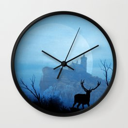 Stag moon Wall Clock