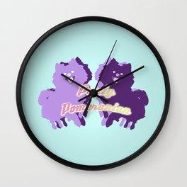 Party Pomeranian Wall Clock