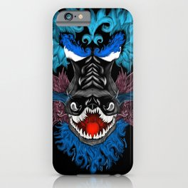 Blue flame dragon iPhone Case
