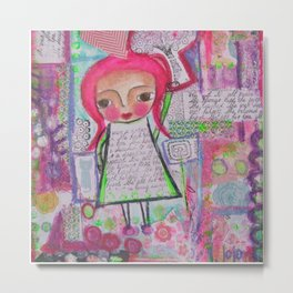 Apple Tree Girl Metal Print