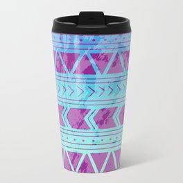 Berry Breeze Geometric Pattern Metal Travel Mug