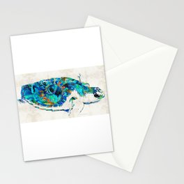 Blue Sea Turtle by Sharon Cummings Stationery Cards