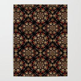 Turkish tulip - Ottoman tile pattern 15 Poster