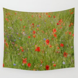 Field of Poppies (in mosaic) Wall Tapestry