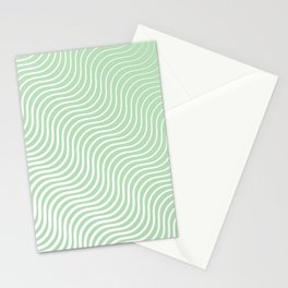 Whiskers - Light Green & White #440 Stationery Cards