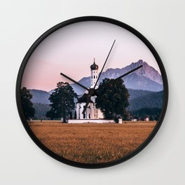St. Coloman church Swangau Bavaria Germany Wall Clock