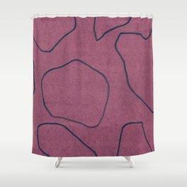 Plum Lines Shower Curtain