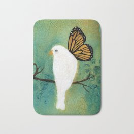Butterfly Doves Bath Mat