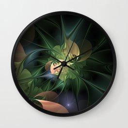 Fractal Floral Fantasy Wall Clock
