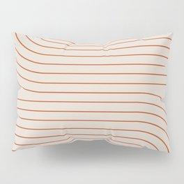 Minimal Line Curvature - Coral II Pillow Sham