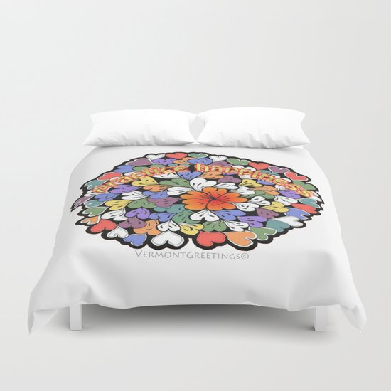 Zentangle Practice Happiness Illustration Duvet Cover