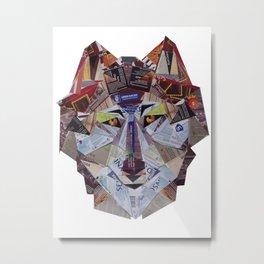 wolf in pack Metal Print