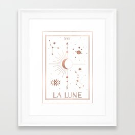 La Lune or The Moon White Edition Framed Art Print