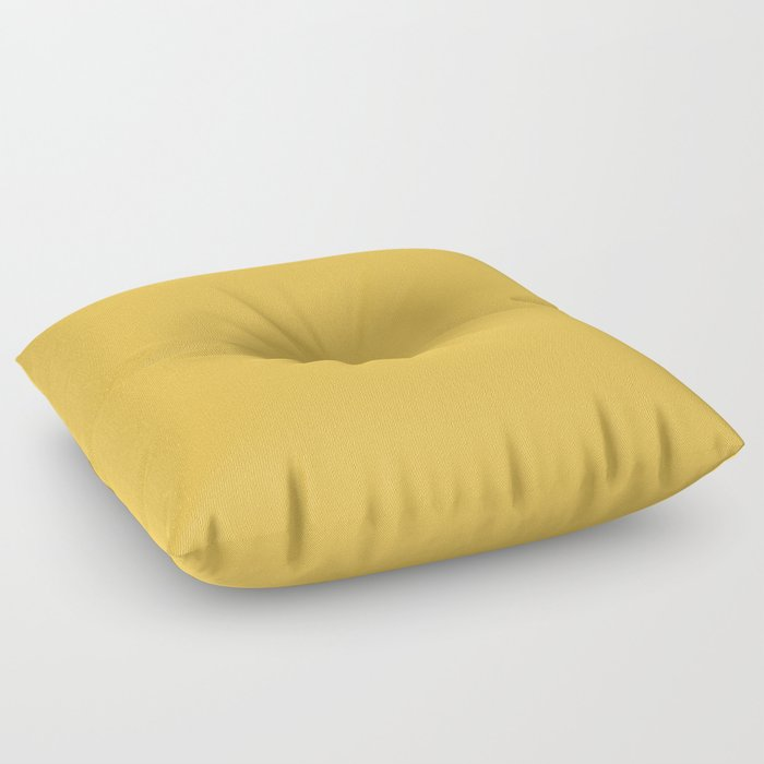Mustard Yellow  Solid Colour Floor Pillow
