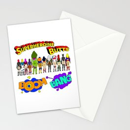 Superheroine Butts BOOM BANG Stationery Cards