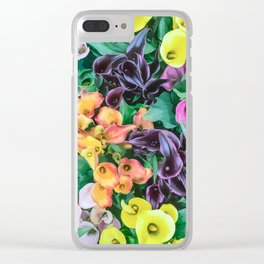 Supermarket Flowers Clear iPhone Case