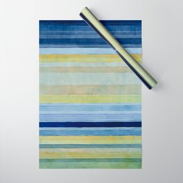 Colorbands Daylight Blue and Yellow Wrapping Paper