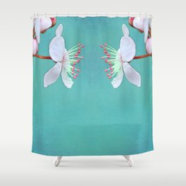 let's talk: turquoise variations Shower Curtain