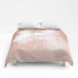 Floating Cotton candy in blush pink Comforters