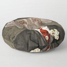 Weimaraner -Monsieur Rigg Floor Pillow