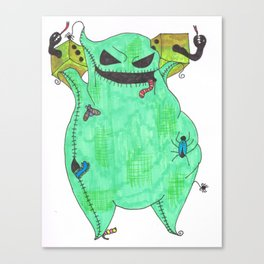 Gambling Oogie Boogie man Canvas Print