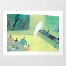 Ghost Does Dishes Art Print