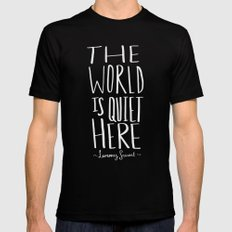 Quiet Black SMALL Mens Fitted Tee
