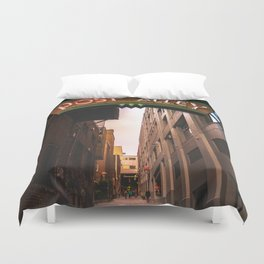 Post Alley in Seattle Washington Duvet Cover