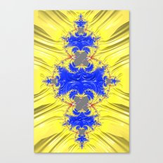 Yellow And Blue Abstract Canvas Print