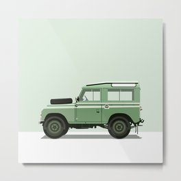 Car illustration - land rover defender Metal Print