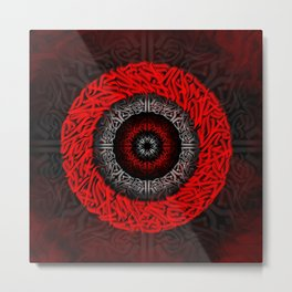 Bright red tunnel Metal Print