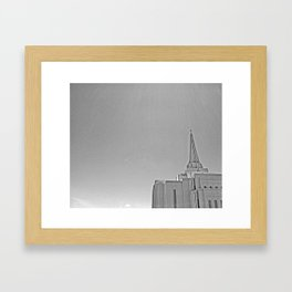 Temple Break Framed Art Print