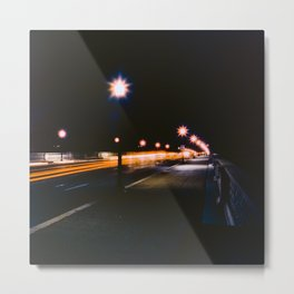 Memorial Bridge Long Exposure Metal Print