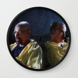 Walter White and Jesse Having A Beer After A Long Day's Work - Breaking Bad Wall Clock