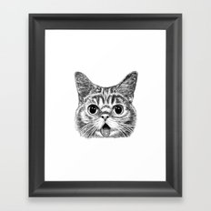 Tongue Out Cat Framed Art Print