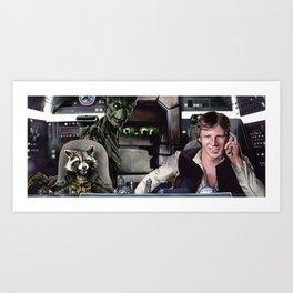 Galaxy Wars Art Print