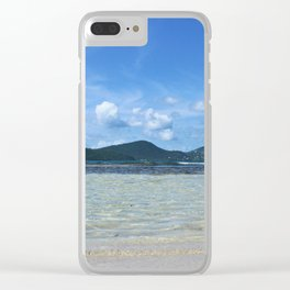 Down at Wave Level Clear iPhone Case