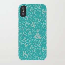 Ampersands - Turquoise iPhone Case