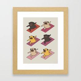 Pugs Warrior Framed Art Print