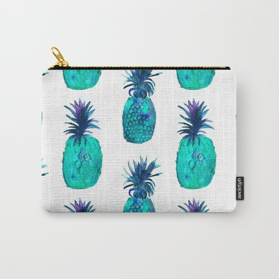 Mint pineapples || watercolor Carry-All Pouch