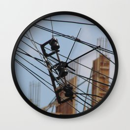 Fios e construção (1) Wall Clock