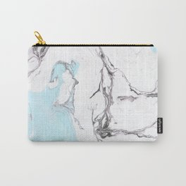 Gray & blue marble Carry-All Pouch