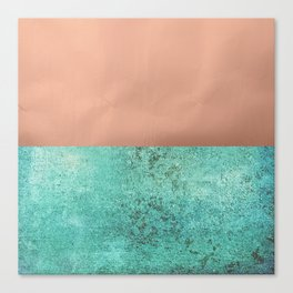 NEW EMOTIONS - ROSE & TEAL Canvas Print