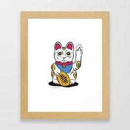 Lucky Cat Flip Framed Art Print