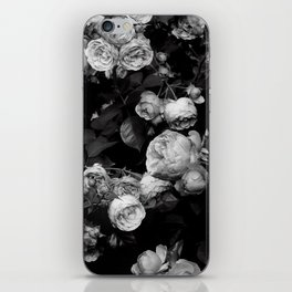 Roses are black and white iPhone Skin