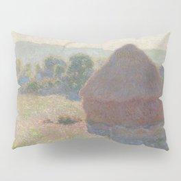 Meules, milieu du jour [Haystacks, midday] Pillow Sham