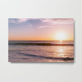 Sunset Surfers II Metal Print