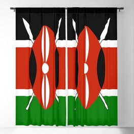 Kenyan flag of Kenya Blackout Curtain