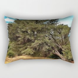 Olive Tree Rectangular Pillow