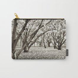 Magnolias in Black & White Carry-All Pouch